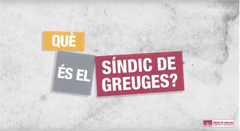 Vídeo Síndic de Greuges de la Comunitat Valenciana.
