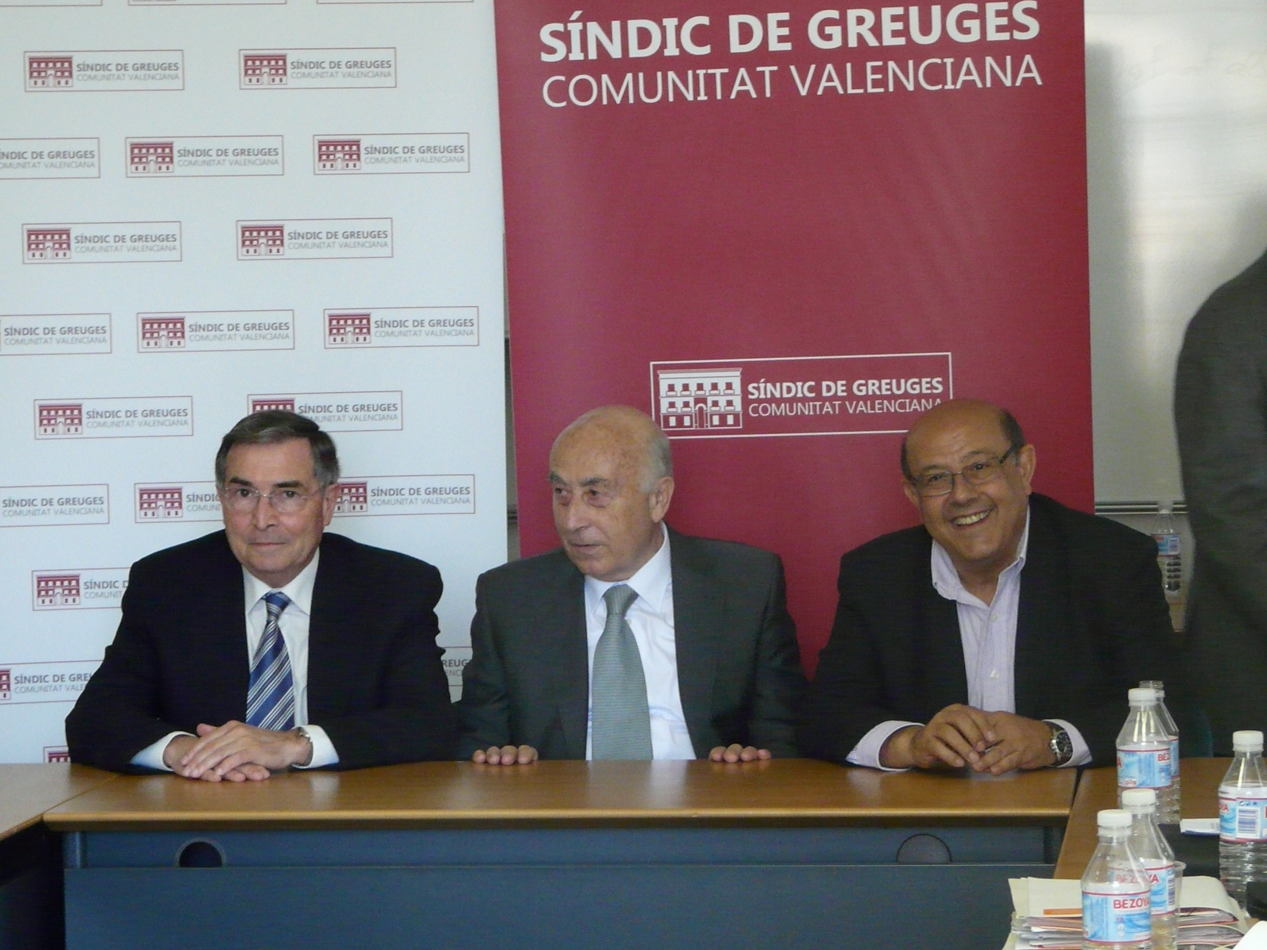 El síndic, el defensor de Murcia y el adjunto de la Defensora del Pueblo clausuran el taller sobre la situación de dependencia de las personas mayores en Alicante