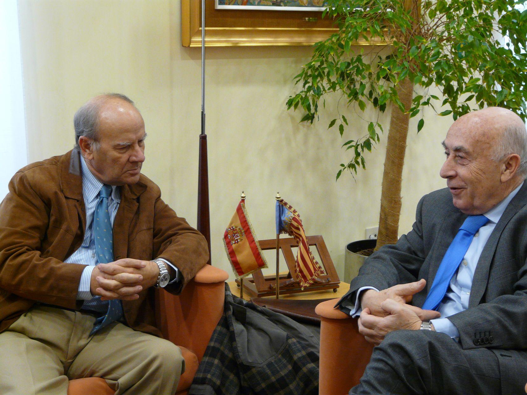 El síndic de Greuges recibe al presidente de la Acadèmia Valenciana de la Llengua