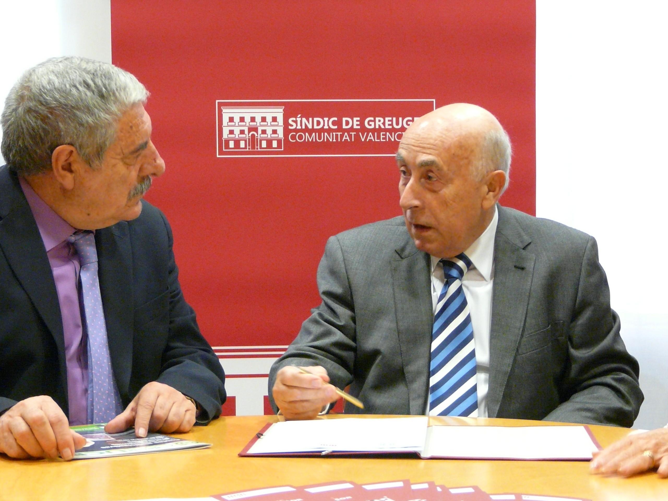 Convenio entre el Síndic y la Unión de Consumidores de la Comunidad Valenciana