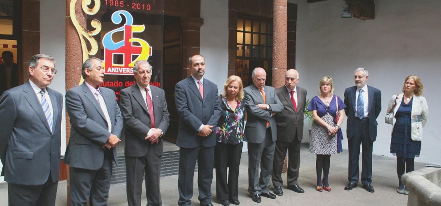 El síndic asiste al 25 aniversario del Diputado del Común de Canarias