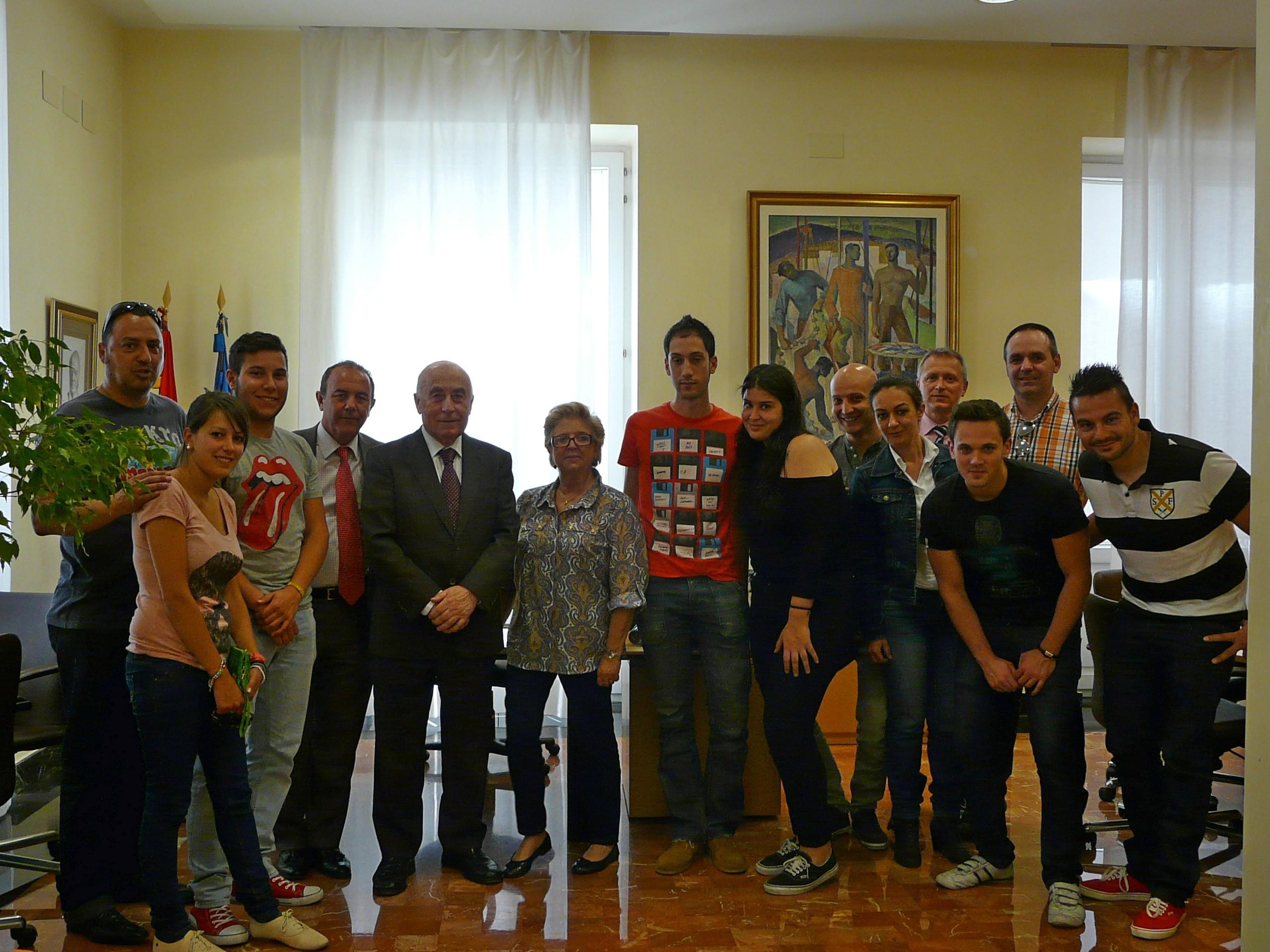 Visita al Síndic de un grupo de estudiantes de GAP de la Universidad de Alicante