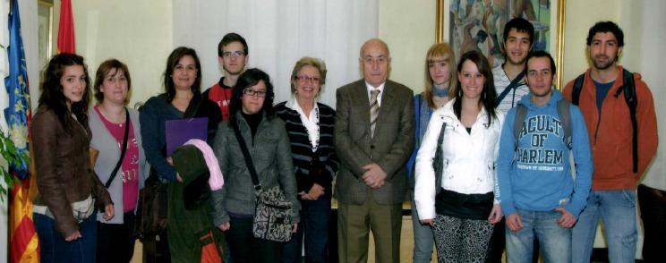 Un grupo de alumnos del IES Les Foies de Benigànim