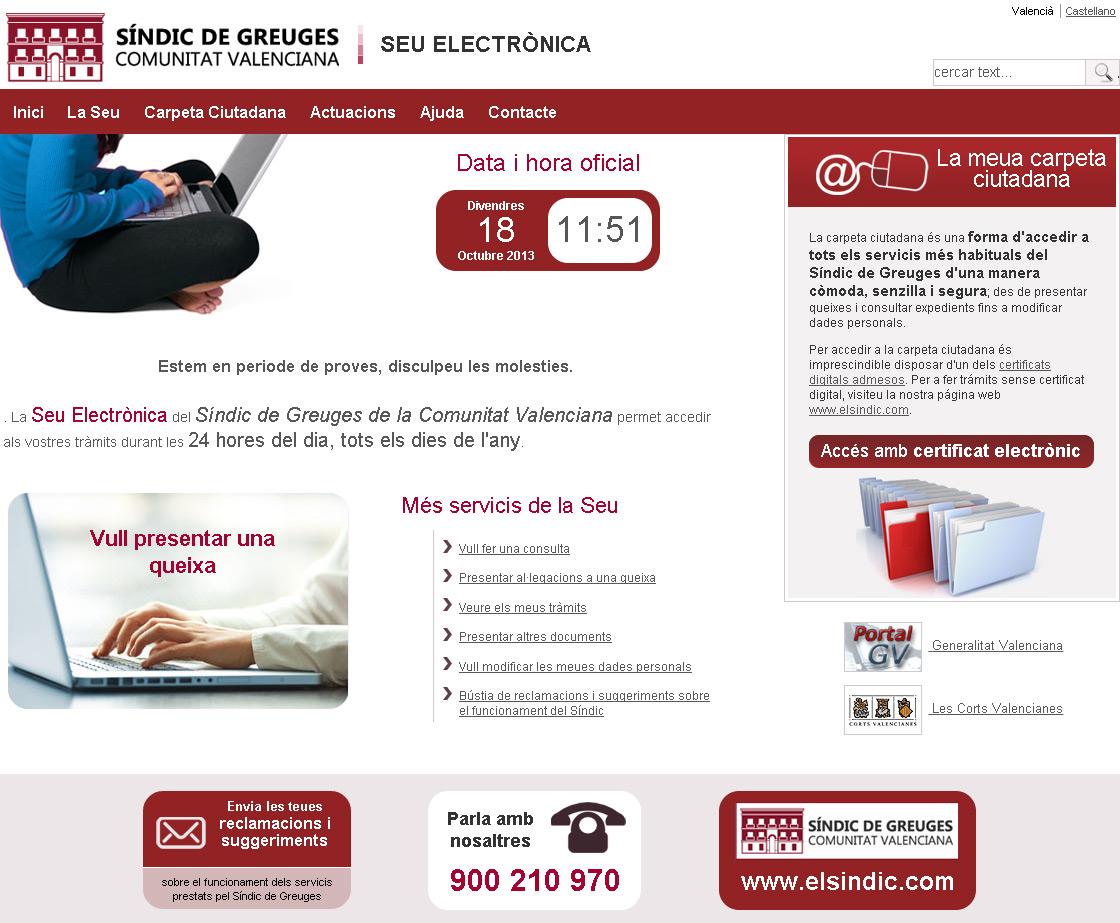 El Síndic de Greuges pone en marcha su Sede Electrónica con más de 10 trámites online