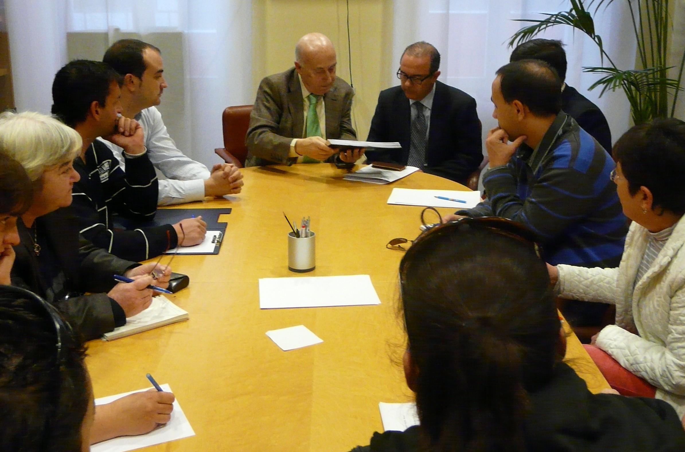 Reunión con representantes de las Plataformas de Afectados por la Hipoteca