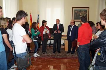 El Síndic recibe a los alumnos de  primero de GAP de la Universidad Politécnica de Valencia