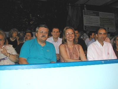 La Presidenta de las Cortes Valencianas y el Síndic de Greuges participan en las Hogueras de San Juan