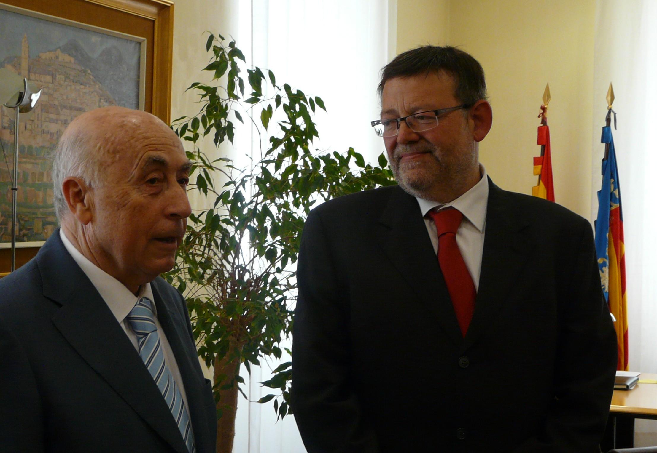 Visita institucional del secretario general del PSPV-PSOE al síndic de greuges