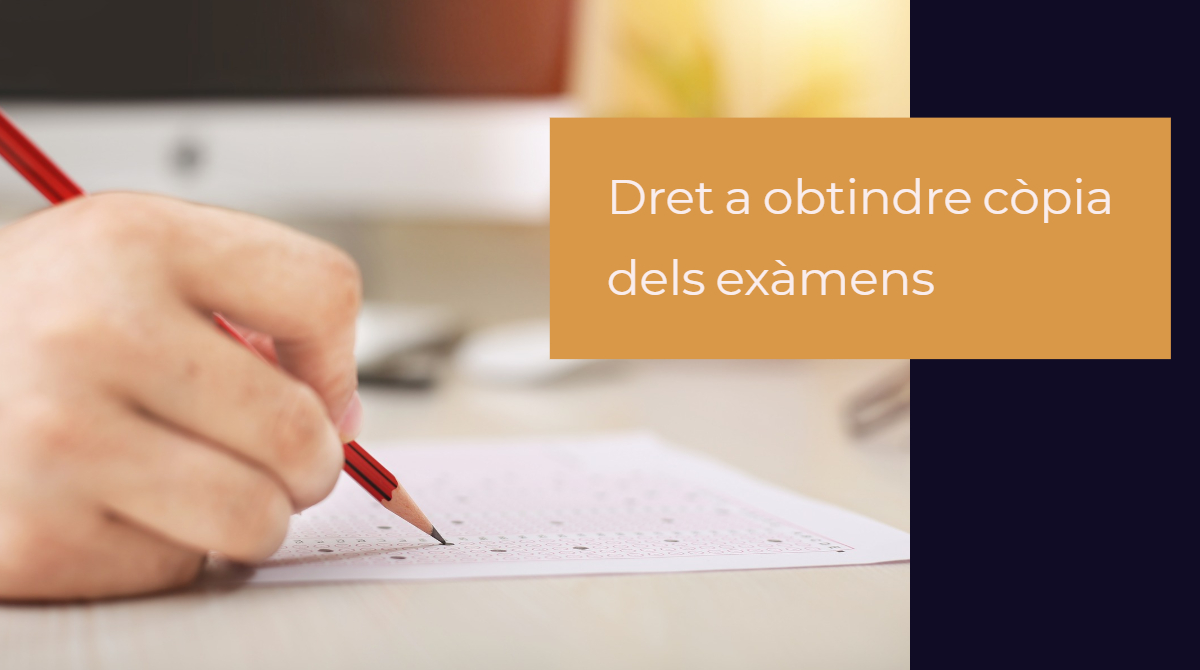EL Síndic defensa el dret de pares i alumnes a obtindre còpia dels exàmens corregits