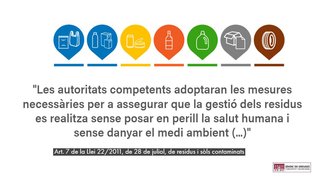 La Conselleria de Medi Ambient i l'Ajuntament d'Utiel es comprometen amb el Síndic a aconseguir la retirada completa dels plàstics de l'abocador il·legal d'Utiel