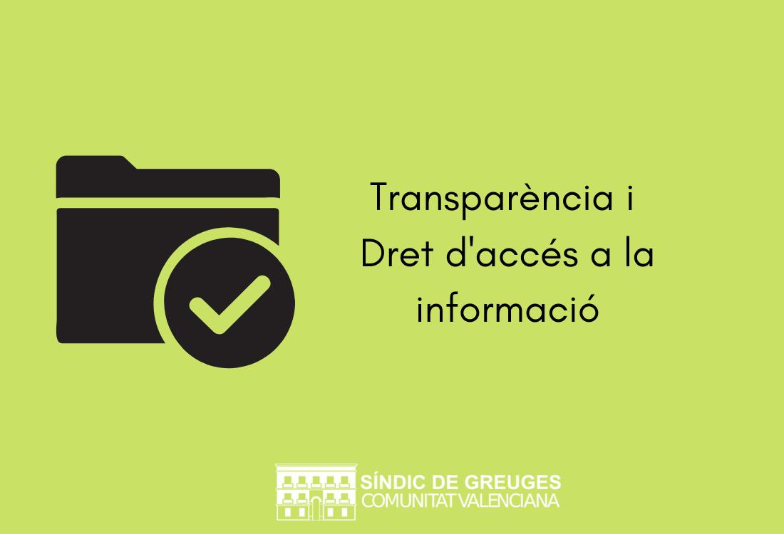 El Síndic defensa que la transparència de les administracions públiques enforteix la democràcia i la confiança de la ciutadania en les seues institucions