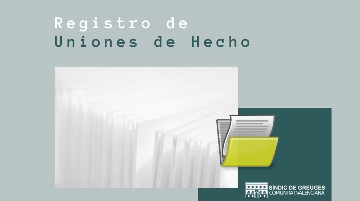 Instamos a Justicia a «tramitar y resolver urgentemente» una solicitud de inscripción en el Registro de Uniones de Hecho presentada en Castellón
